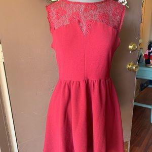 Forever 21 burgundy skater dress size M